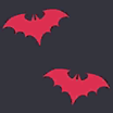Tecido Bats Red icone.png